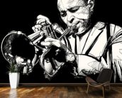 Trumpet Player mural wallpaper kitchen preview