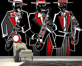 Trio of Saxophonists wall mural