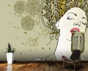 Female Jazz Singer wallpaper mural kitchen preview
