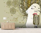 Female Jazz Singer wallpaper mural living room preview