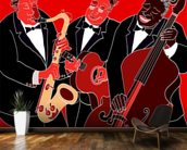 Jazz Band Trio wallpaper mural kitchen preview