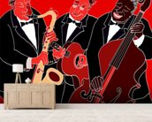 Jazz Band Trio wallpaper mural living room preview