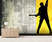Rock Guitarist wall mural living room preview