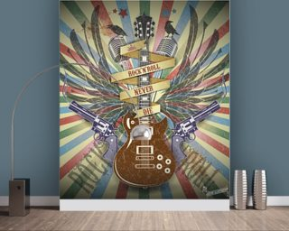 Rock n Roll Wallpaper Mural Wallpaper Wall Murals