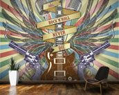 Rock n Roll wall mural kitchen preview