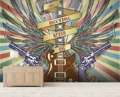 Rock n Roll wall mural living room preview