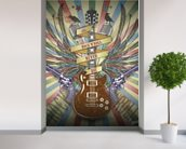 Rock n Roll wall mural in-room view