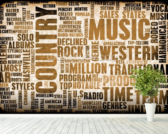 Country Music Wallpaper Wall Mural Wallsauce USA