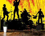 Rock Band wall mural kitchen preview