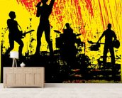 Rock Band wall mural living room preview