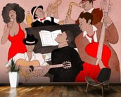 Funky Jazz Band wallpaper mural kitchen preview