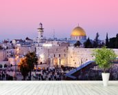 Western Wall and Dome of the Rock in Jerusalem, Israel mural wallpaper in-room view