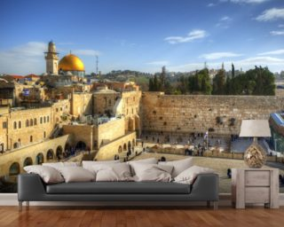 The Wailing Wall and Dome of the Rock, Jerusalem wall mural