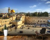 The Wailing Wall and Dome of the Rock, Jerusalem wall mural kitchen preview