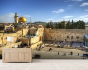 The Wailing Wall and Dome of the Rock, Jerusalem wall mural living room preview