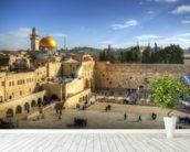 The Wailing Wall and Dome of the Rock, Jerusalem wall mural in-room view
