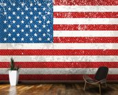 Vintage American Flag mural wallpaper kitchen preview