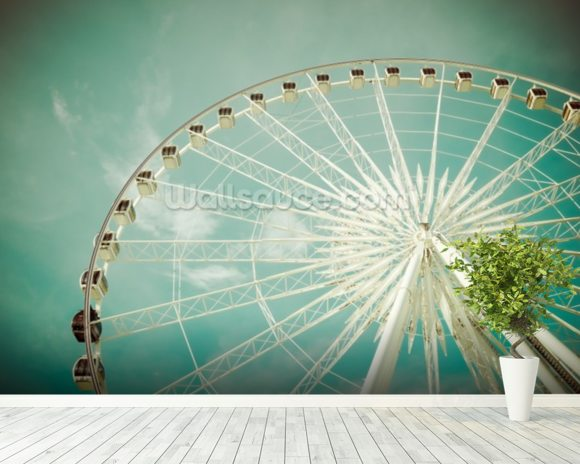 Ferris Wheel wall mural room setting