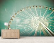 Ferris Wheel wall mural living room preview