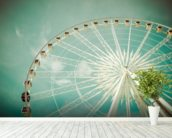 Ferris Wheel wall mural in-room view