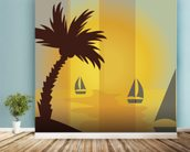 Sunset Sailing wall mural in-room view