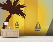 Sunset Sailing wall mural living room preview