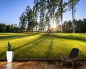 Sunset on golf course in Poalnd mural wallpaper kitchen preview