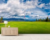 Golf Tee at Kelowna Lakeshore Road Okanagan Valley BC mural wallpaper living room preview
