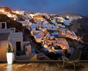 Oia Santorini Greece mural wallpaper kitchen preview