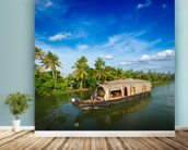 Kerala Backwaters mural wallpaper in-room view