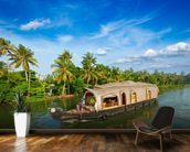 Kerala Backwaters mural wallpaper kitchen preview