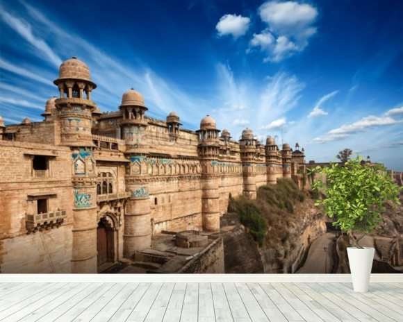 Gwalior Fort wallpaper mural room setting