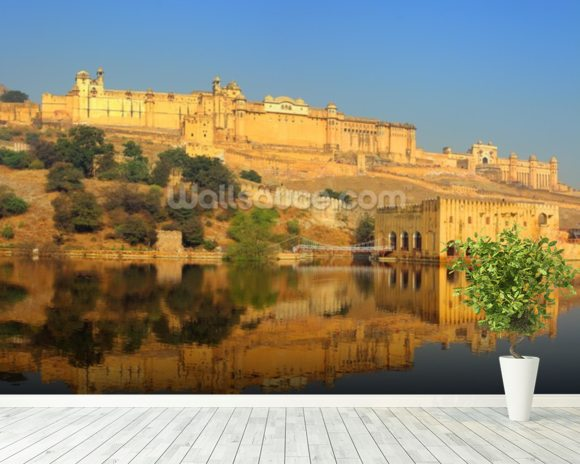 Jaipur fort wallpaper wall mural wallsauce germany for Wallpaper for home walls jaipur