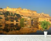 Jaipur Fort wall mural in-room view