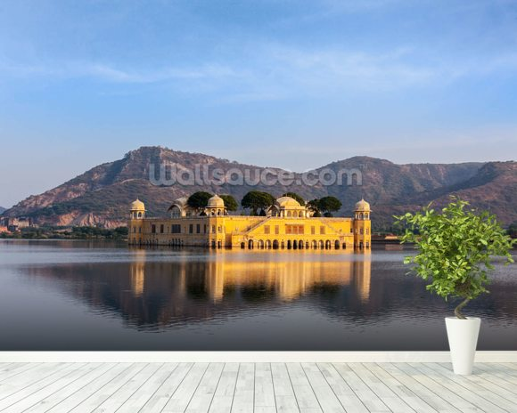 Water palace jaipur wallpaper wall mural wallsauce for Wallpaper for home walls jaipur