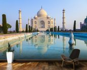 Taj Mahal Sunrise mural wallpaper kitchen preview