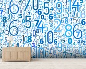 Numbers wall mural living room preview