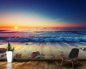 Colourful Sunrise Over the Sea wall mural kitchen preview