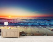 Colourful Sunrise Over the Sea wall mural living room preview