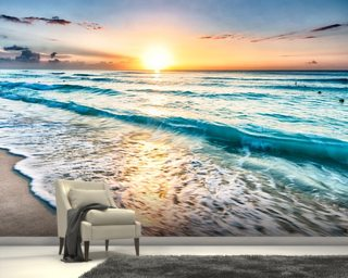 Cancun Beach Sunrise, Mexico Wall Mural Wall Murals Wallpaper