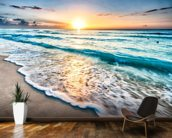 Cancun Beach Sunrise, Mexico mural wallpaper kitchen preview