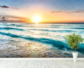 Cancun Beach Sunrise, Mexico mural wallpaper in-room view