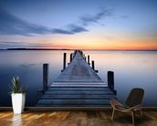 Wooden Jetty Sunrise wall mural kitchen preview