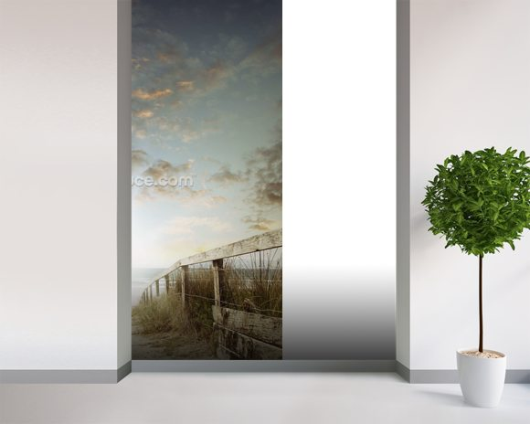 Atlantic Coast Beach Walkway wall mural room setting