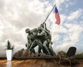 Iwo Jima in Washingron DC mural wallpaper kitchen preview