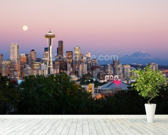 Seattle wall mural room setting