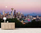 Seattle wall mural living room preview