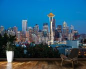 Seattle Skyline mural wallpaper kitchen preview