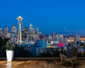 Seattle Skyline and Mount Rainier wall mural kitchen preview