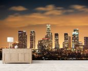 Los Angeles Skyline Sunset wall mural living room preview